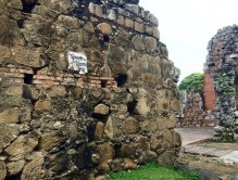 Panama Viejo: ruins of original city. La Merced church was here.