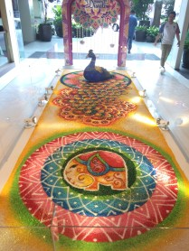 Deepavali celebrated in many venues with loose sand paintings