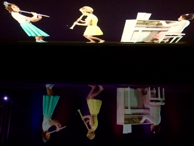 Video Art projection and reflection