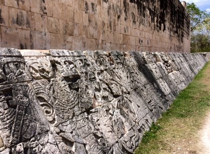 Detail from the Ball Court at Chichen Itza