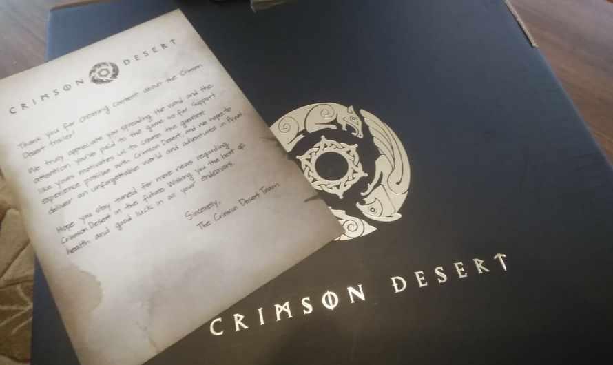 Crimson Desert : une boîte de goodies aux couleurs du jeu