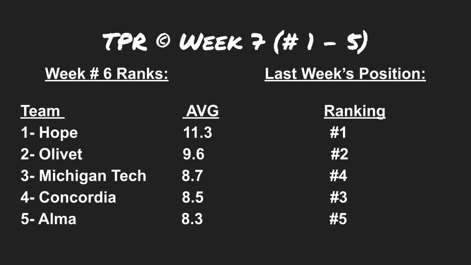 TPR week 7