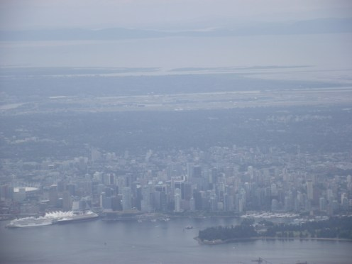 Grouse Mountain 2017: view of Vancouver