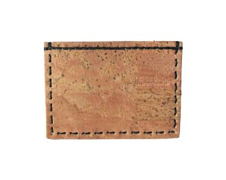 Cork card wallet, hand stitched with brown waxed thread. By misp Workshop (288) https://www.etsy.com/listing/221105337/