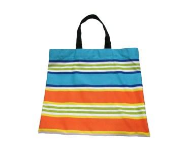 Multicolored striped market bag, Reusable Shopping Bag, Groceries bag. by misp Workshop (416) https://www.etsy.com/listing/221079269/