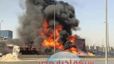 Photo of سيارة نقل مواد بترولية تسبب حريقا هائلا بدائري المعادي