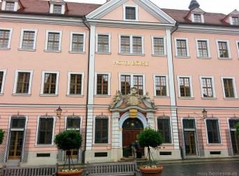 Das Hotel in dem die Stars während der Dreharbeiten zu The Grand Budapest Hotel nächtigten. Würde ich in Görlitz wohnen, ich hätte hier bestimmt das eine oder andere Mal rumgelungert ...