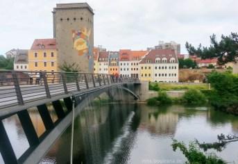 Brücke und Grenze zu Polen in Görlitz