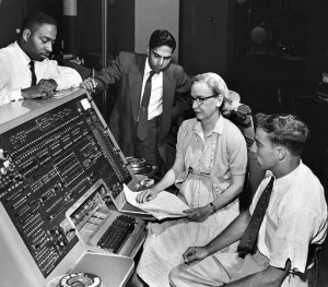 Grace Hopper and UNIVAC I. Image copyright is believed to belong to the Smithsonian Institution and/or  Jan Arkesteijn. Found on: wikipedia.org, link to Image Source