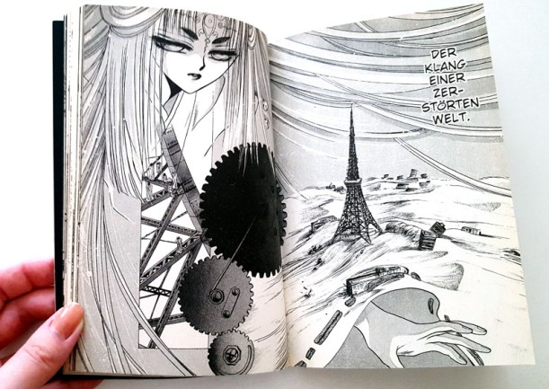 """Tokyo Tower im Manga """"X"""" in einer apokalyptischen Szene"""