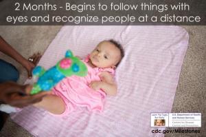 Навыки малыша в два месяца