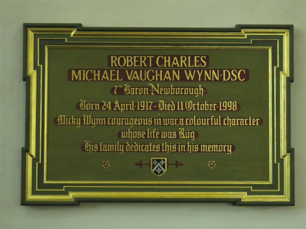 Robert Charles Michael Vaughan Wynn, 7th Baron Newborough