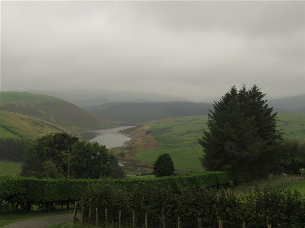 Cloudy day in Staylittle, mid Wales