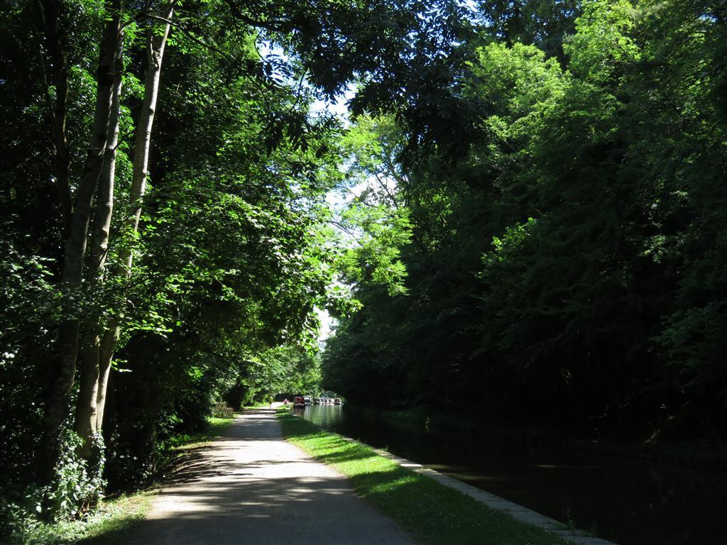 Canal path in Bradford on Avon, Wiltshire