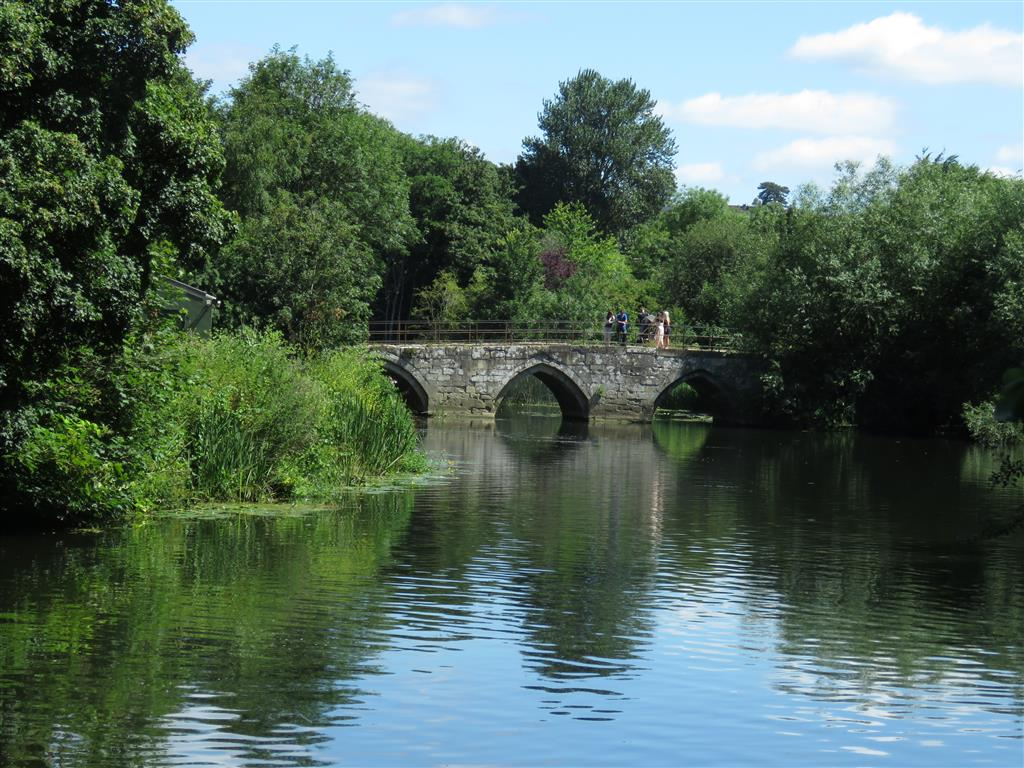 Picturesque stone bridge in Bradford on Avon, Wiltshire