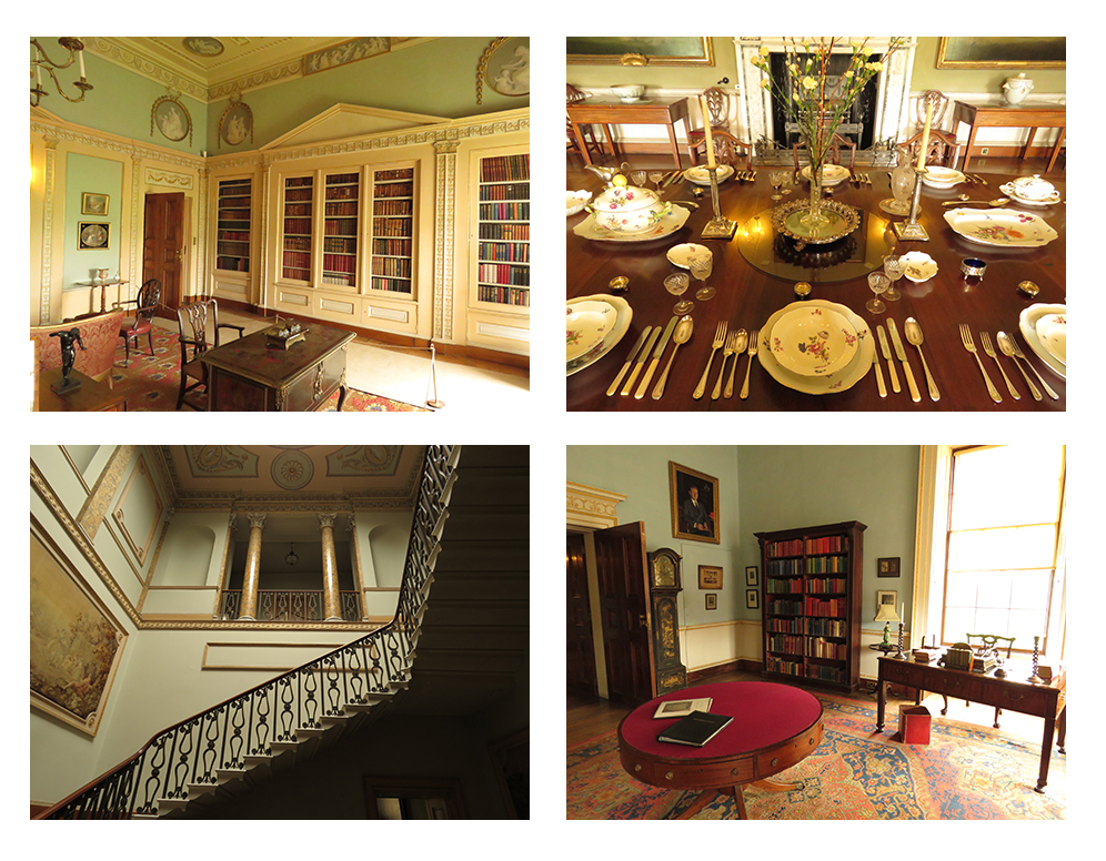 Images of the interior of the National Trust's Neoclassical Berrington Hall.