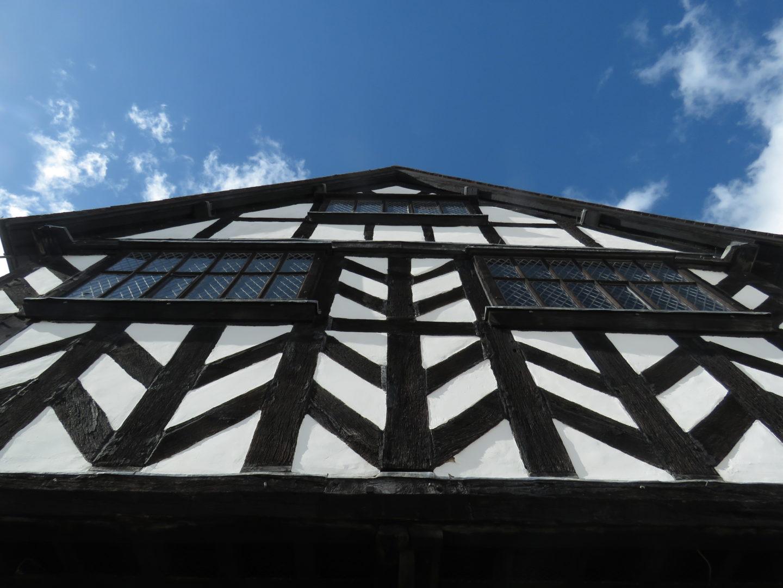 Tudor market hall in Ledbury, England