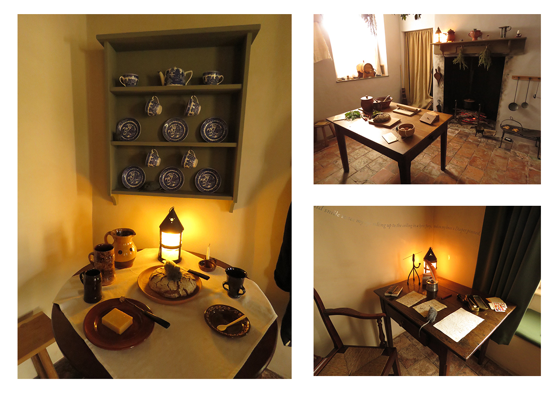 Three reconstructed rooms at the National Trust's Coleridge Cottage in Nether Stowey.
