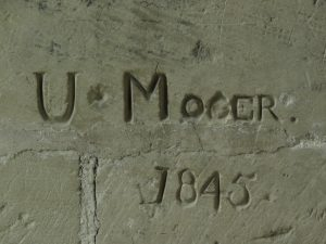 19th century graffiti in Salisbury Cathedral