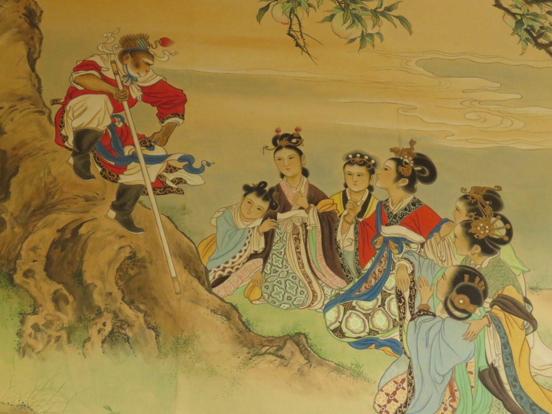 Hand-painted Chinese wallpaper at Arundells, Salisbury