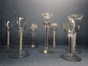Turnball glass collection, Mompesson House, Salisbury