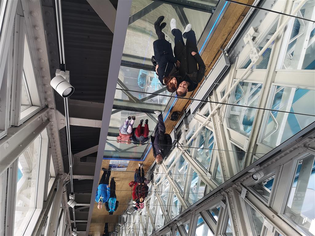 Visiting the Glass Walkway, Tower Bridge, London