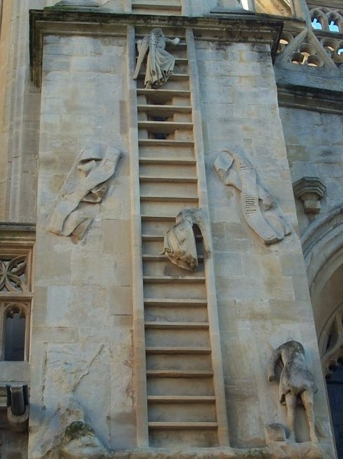 Jacob's Ladder at Bath Abbey, England