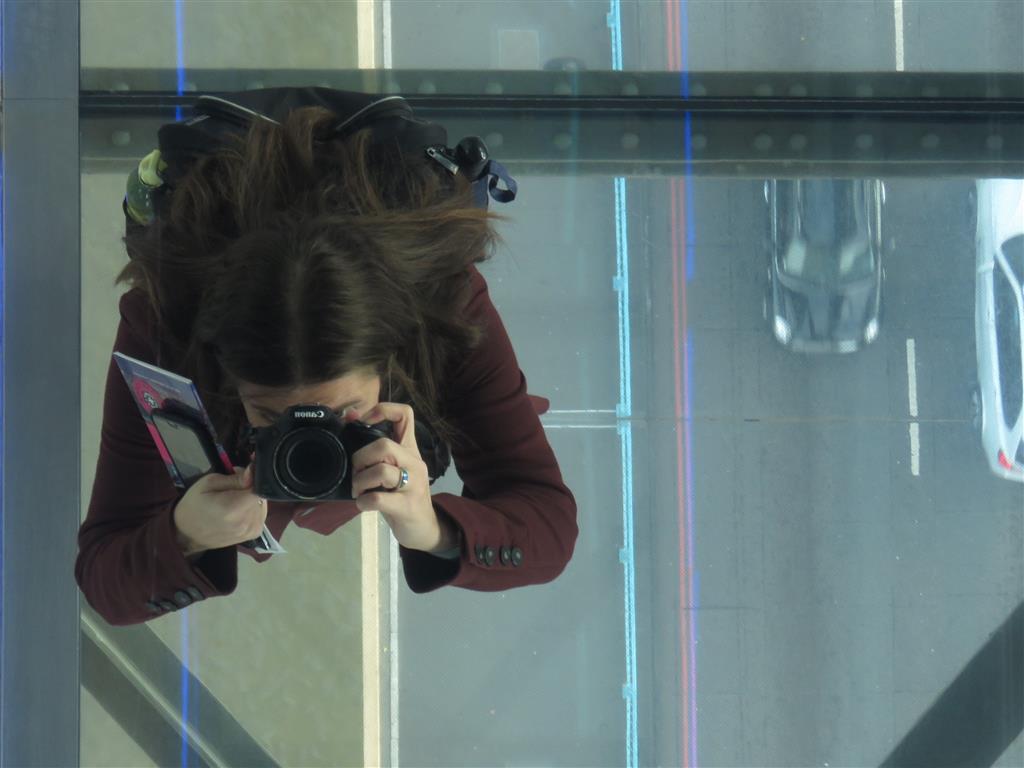 Selfie on the Glass Walkway, Tower Bridge