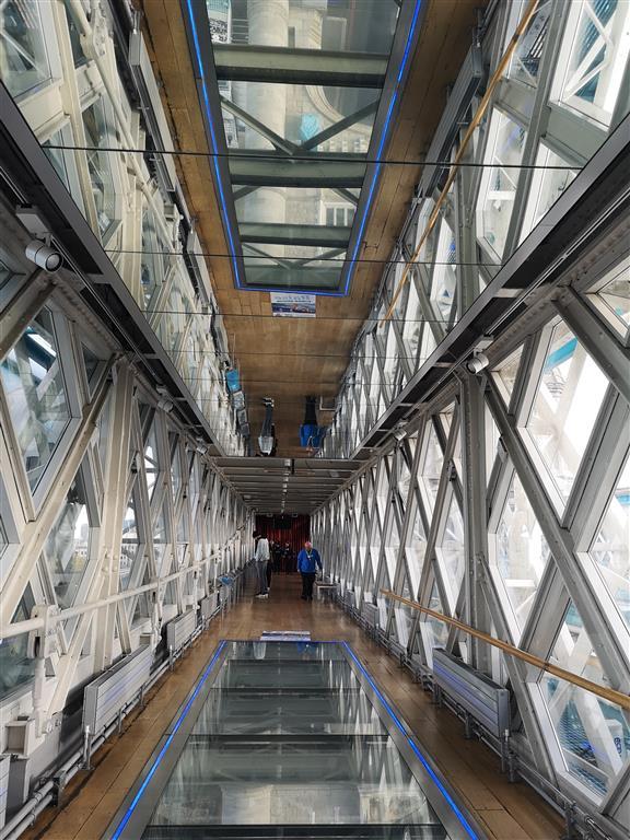 Visiting the Glass Walkway, London, England