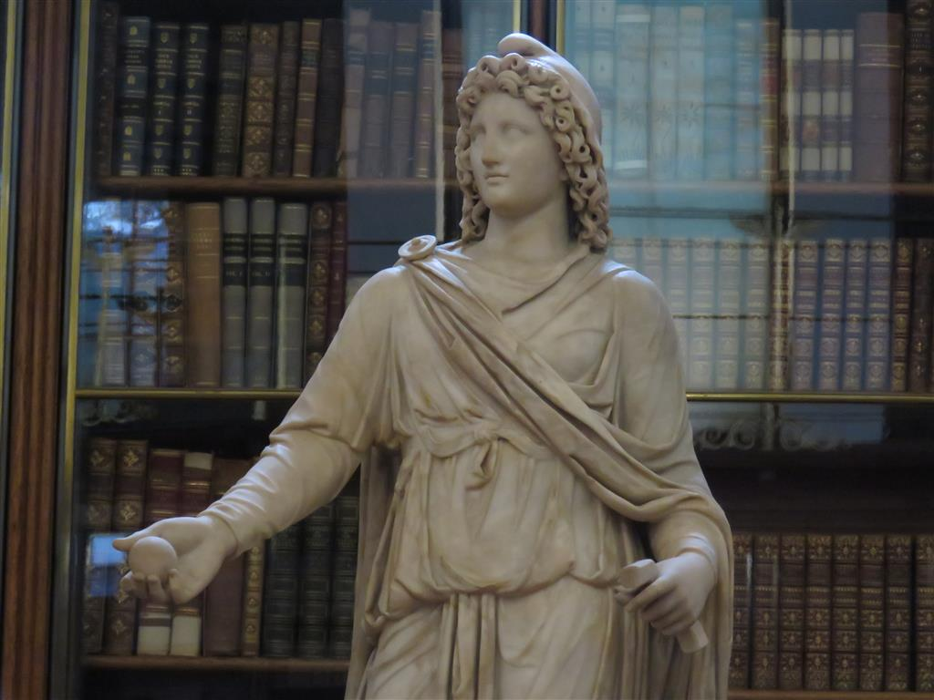 Roman statue, Enlightenment Gallery, British Museum, London