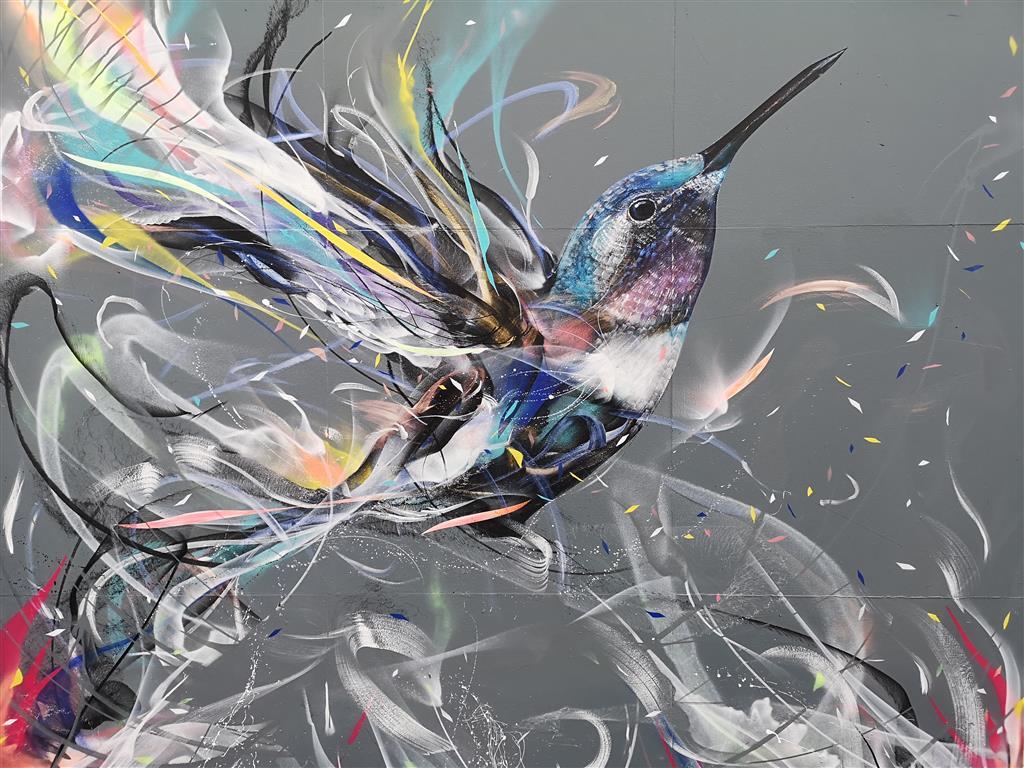 Hummingbird Street Art in Bristol