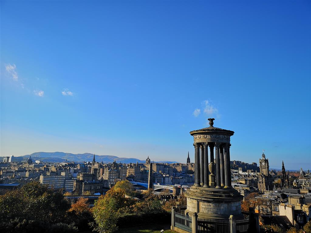 Skyline of Edinburgh from Calton Hill