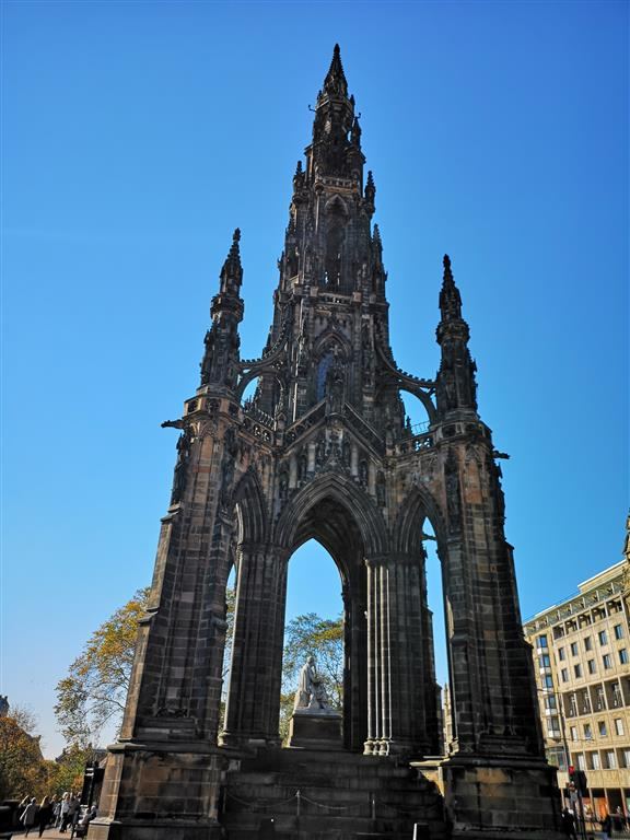Visiting the Scott Monument, Edinburgh, Scotland