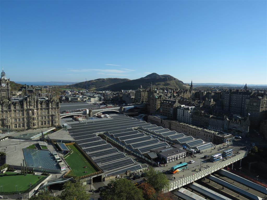 Views from the Scott Monument, Edinburgh, Scotland