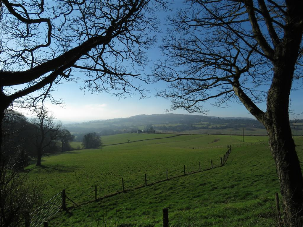 Views from Painswick Rococo Garden, Cotswolds