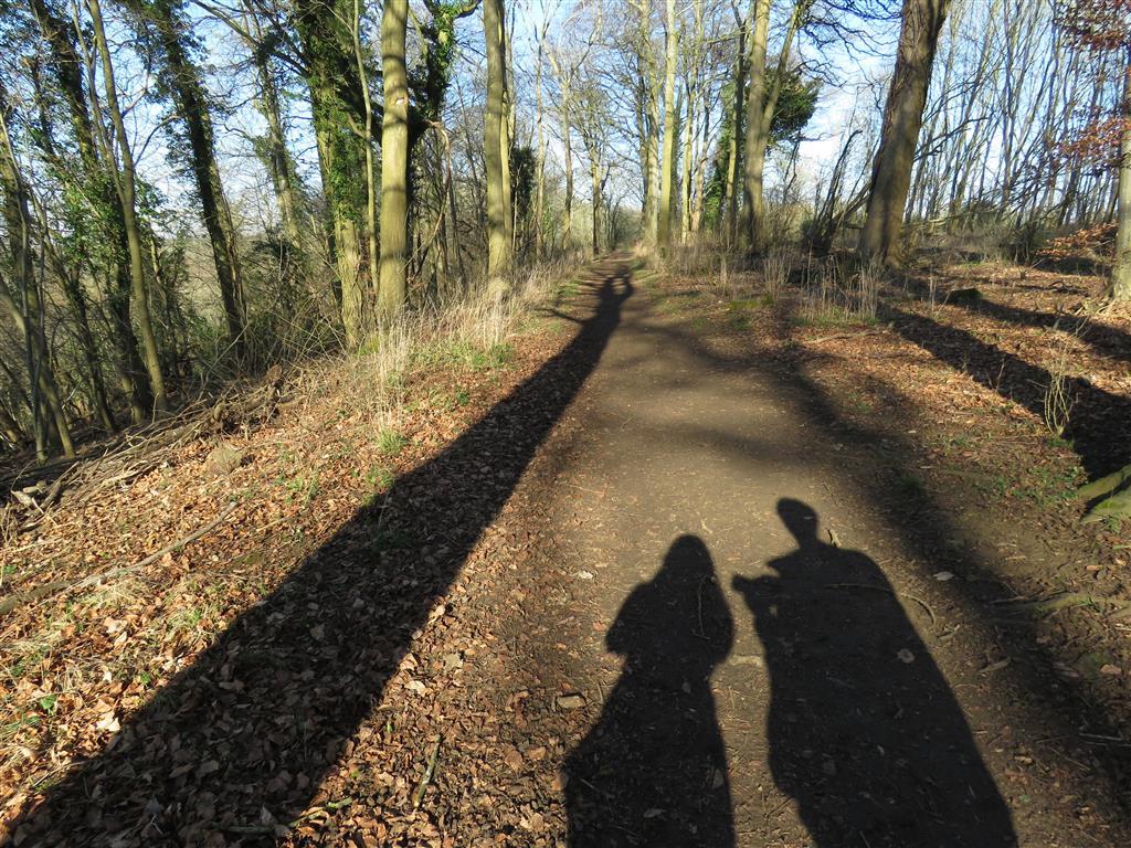 Shadow selfie, Castle Combe, Wiltshire