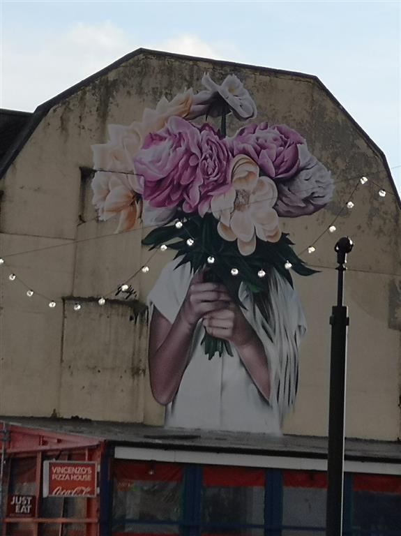 Flower street art, Park Street, Bristol