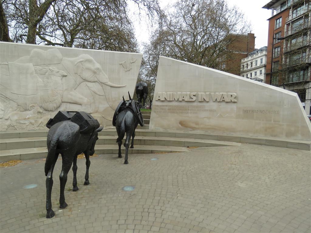 Animals in War Memorial, London
