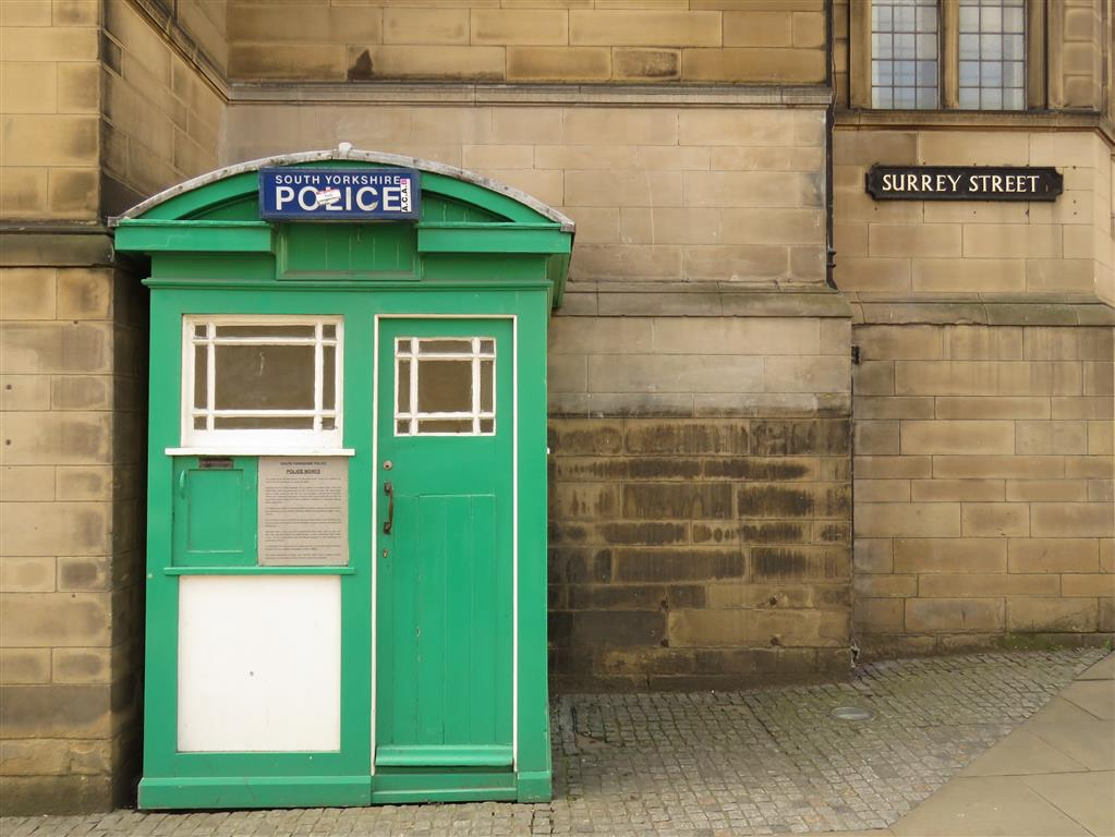 Doctor Who Police Phone Box, Sheffield City Centre