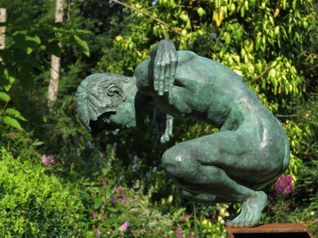Narcissus by Teresa Wells at the Cotswold Sculpture Park.