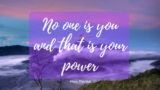 Empowering quote - motivational quote - miss mental - purple
