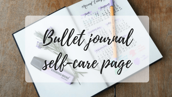Bullet journal self-care page