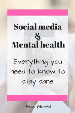 social media and mental health pin image miss mental