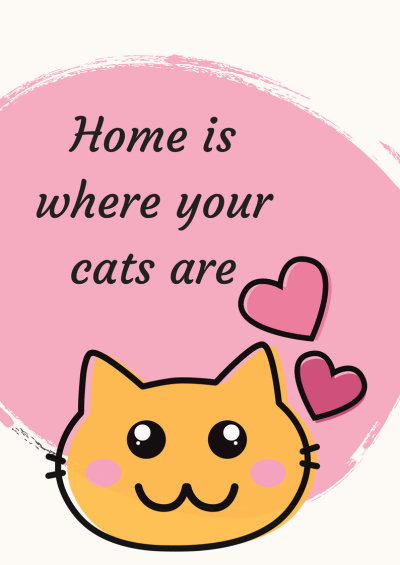 free printable wall decor quotes, quote home is where your cats are. home decor, wall art miss mental #cat #home #quote #free #printable