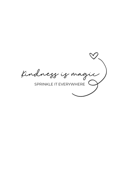 kindness is magic sprinkle it everywhere quote | Free printable wall art home decor quote black and white minimalistic