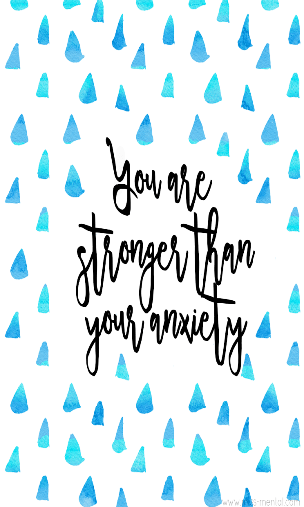 You are stronger than your anxiety | overcome panic attacks and start taking your life back | Improve your mental health and wellness with simple steps and learn what anxiety really is and how you can face it in your daily life #positivity #anxiety #mentalhealth #quote