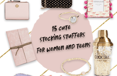 The 15 best stocking stuffer gift ideas for women and teens. Pink, marble, gold and glitter, these gifts are absolutely perfect as a Christmas gift for all the women in your life. Gifts for fashionistas or creative girls. Home decor gifts, handbags or iPhone cases, these gift make a great stocking stuffers and will make your friends and family very happy! #Christmas #xmas #stockingstuffers #gifts #giftforher