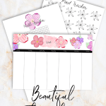 Bullet journal flower theme planners | Hand made / Hand drawn bujo planners for anyone who wants to create beautiful planners with ease without having to be creative or spend a lot of times on your planning. Download them as many times as you like and get 20% off the price this month! Plan with me | bullet journal theme | easy planning | Includes weekly planner, mood tracker and habit tracker #bujo #bulletjournal #floral #flower