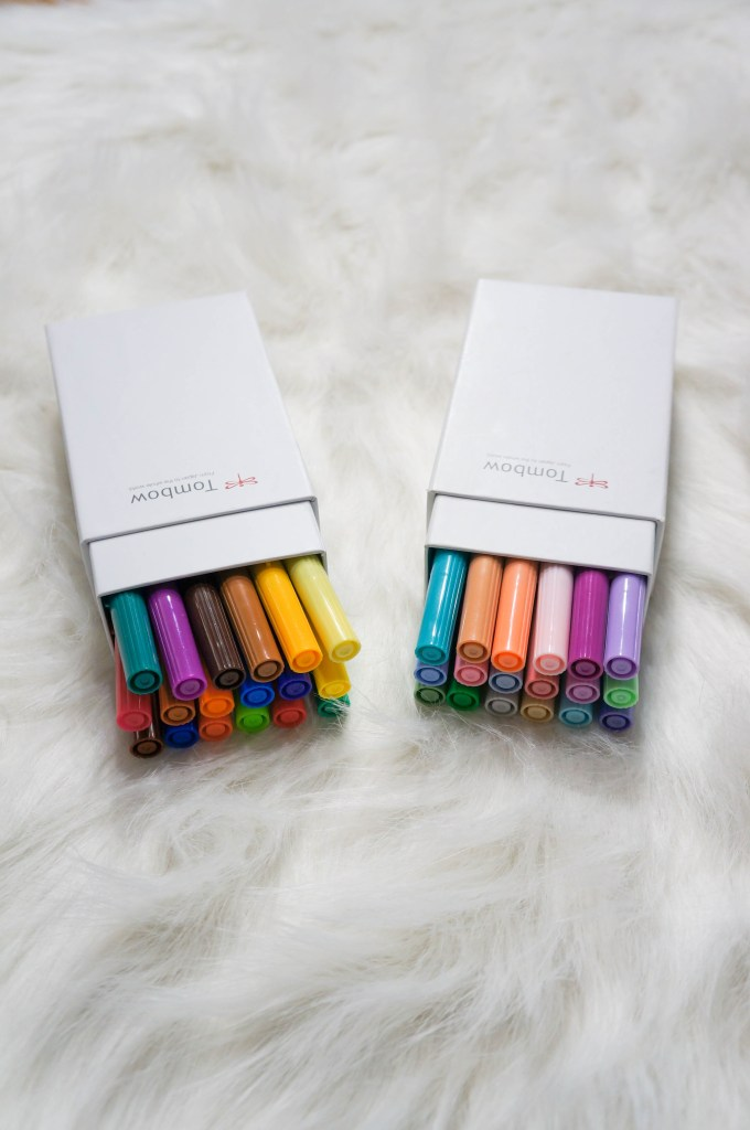 tombow dual brush pens bullet journal supplies | Beautiful color brush pens for coloring and bullet journaling
