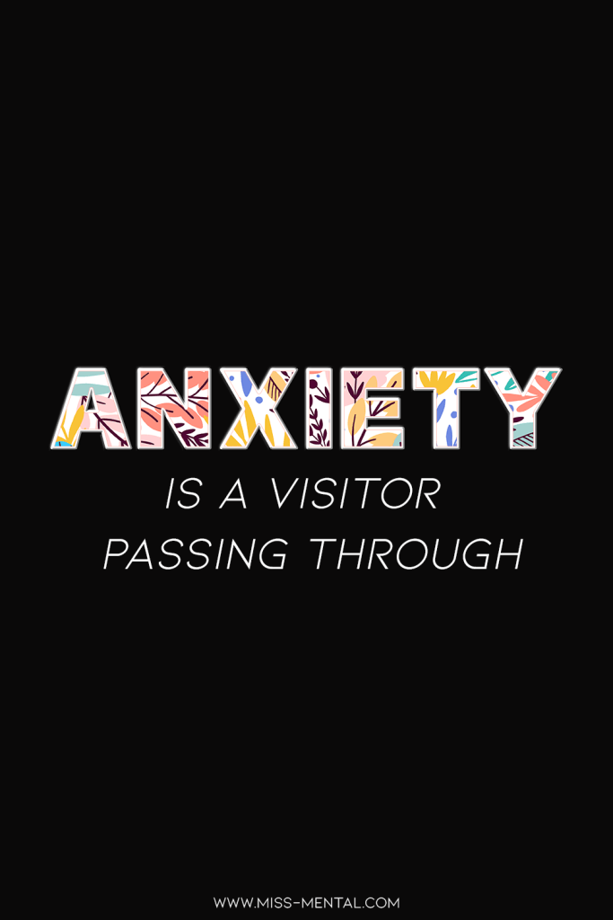 10 affirmations for anxiety with free phone wallpapers | Anxiety is a visitor passing through. Improve your mentalhealth and wellbeing with affirmations and adopt a stronger better mindset. Anxiety is a temporary feeling that will pass. Panic attack #mentalhealth #positivity #free #wallpaper #anxiety